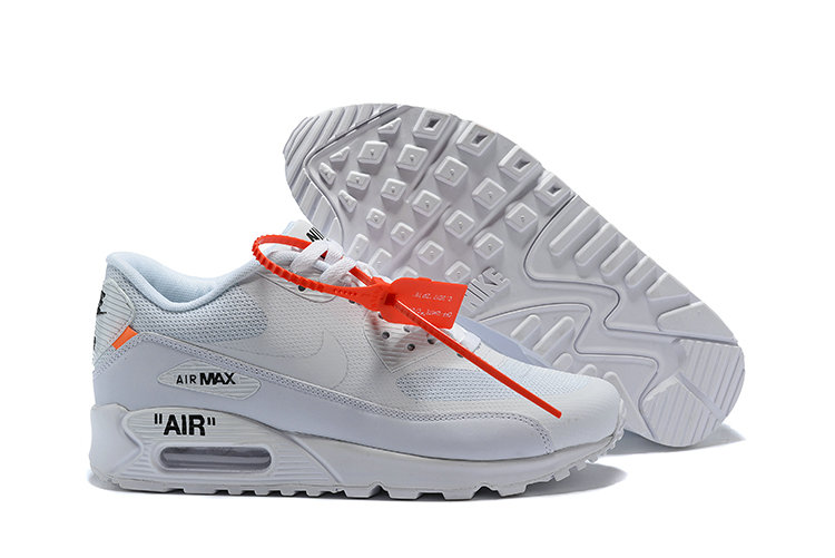the latest 69c9a b0c3e ... order womens wholesale cheap off white x nike air max 90 white  wholesaleflyknit 12505 96db8