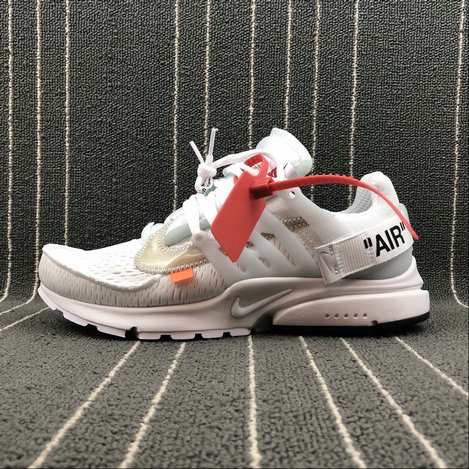 dff0e35a205 Womens Wholesale Nike AIR PRESTO x Off-White AA3830-100 WHITE BLACK CONE  BLANC