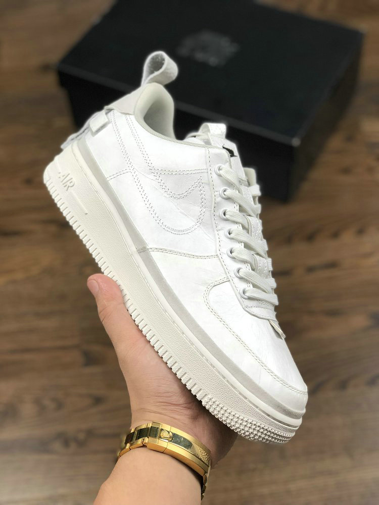 Womens Wholesale Nike Air Force 1 07 AF1 Magic Stick x Air Force 1 VIP Triple White- www.wholesaleflyknit.com