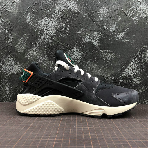 Cheap Wholesale Womens Nike Air Huarache Run PRM 704830-015 Oil Grey Sail Rainforest Gris Petrole Foret Pluie Voile - www.wholesaleflyknit.com