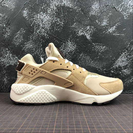 Cheap Wholesale Womens Nike Air Huarache Run PRM 704830-202 Desert Sail-Burgundy ASH Voile - www.wholesaleflyknit.com
