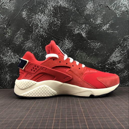 Cheap Wholesale Womens Nike Air Huarache Run PRM 704830-602 University Red Sail Rouge Voile - www.wholesaleflyknit.com