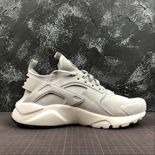 Cheap Wholesale Womens Nike Air Huarache Run PRM 829669-101 Grey Black White Gris Noir Blanc - www.wholesaleflyknit.com