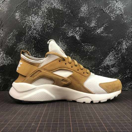 Cheap Wholesale Womens Nike Air Huarache Run ULTRA 829669-017 Off White Wheat Color Blanc Casse Ble Couleur - www.wholesaleflyknit.com
