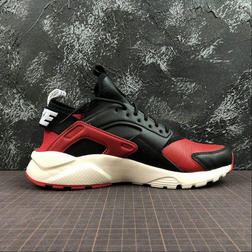 Cheap Wholesale Womens Nike Air Huarache Run ULTRA 875842-006 Black Red White Noir Rouge Blanc - www.wholesaleflyknit.com
