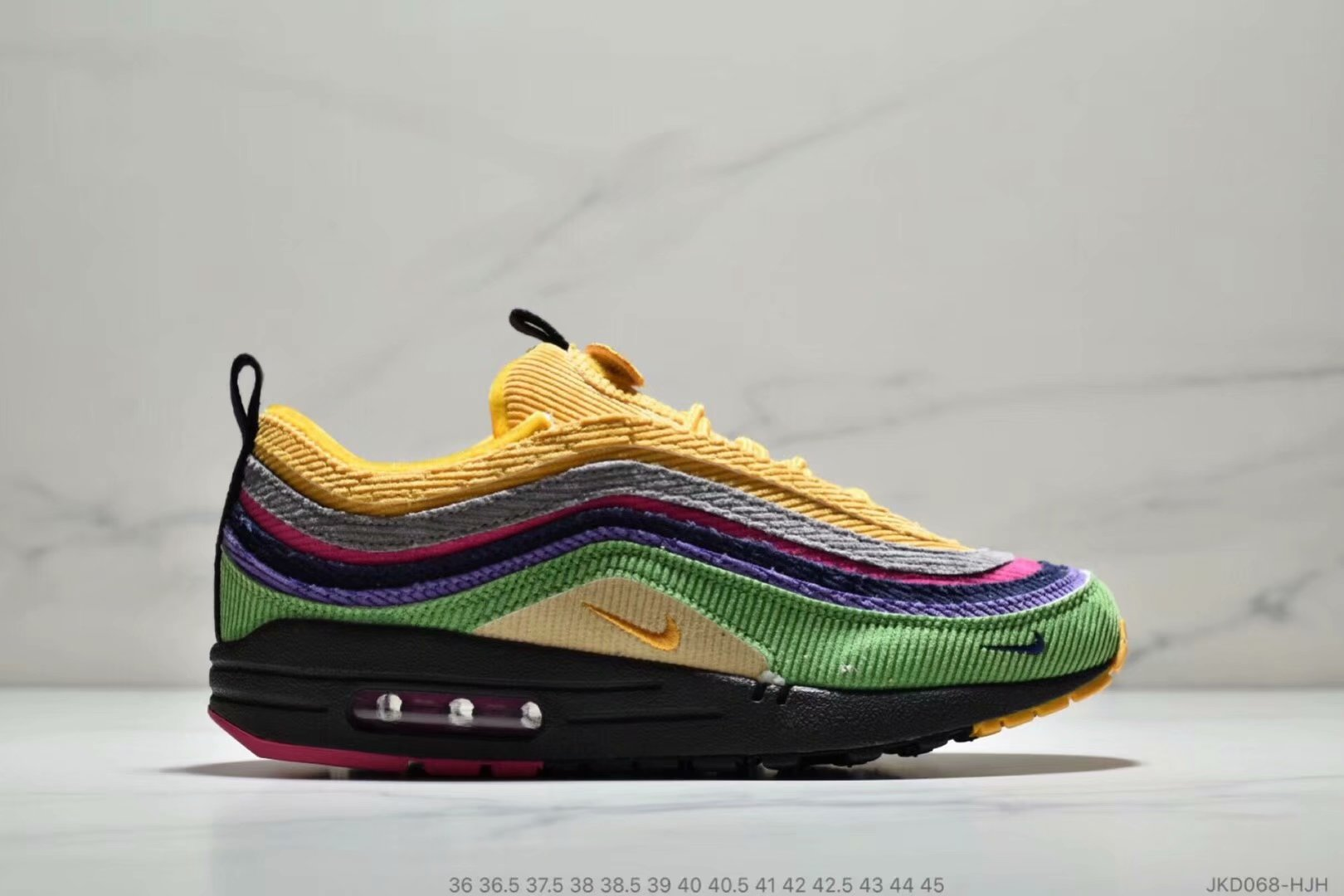 Womens Nike Air Max 87 1 Sean Wotherspoon Grass Green Yellow Grey Purple Black - www.wholesaleflyknit.com