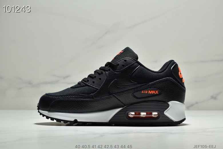 Womens Nike Air Max 90 Black-Habanero Red-Black CD1526-001 - www.wholesaleflyknit.com