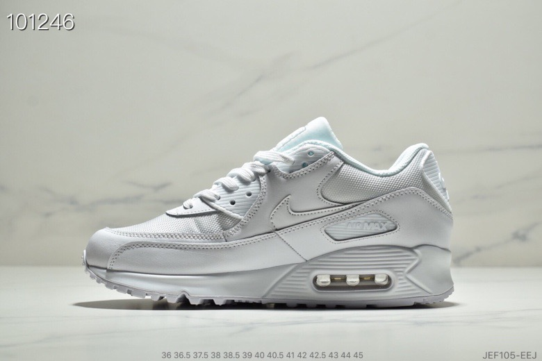 Womens Nike Air Max 90 Essential White-White 537384-111 - www.wholesaleflyknit.com