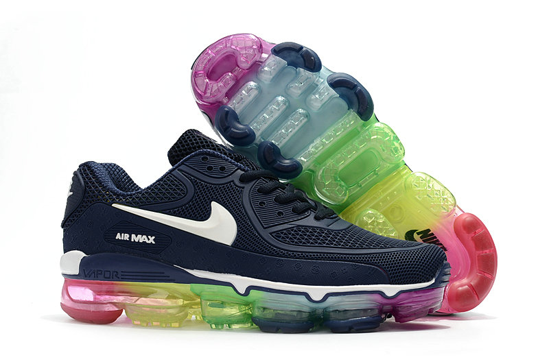 e89bc42ea2 Womens Nike Air Max 90 x VaporMax Navy Blue Colorful Wholesale Cheap -  www.wholesaleflyknit