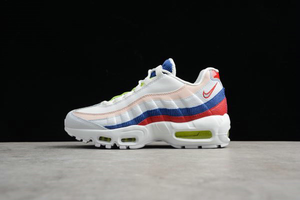 Cheap Wholesale Womens Nike Air Max 95 Corduroy White Multi AQ4138-101 - www.wholesaleflyknit.com