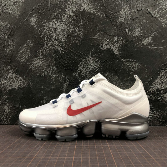 Cheap Wholesale Womens Nike Air VaporMax 2019 AR6632-006 White Red Blanc Rouge - www.wholesaleflyknit.com
