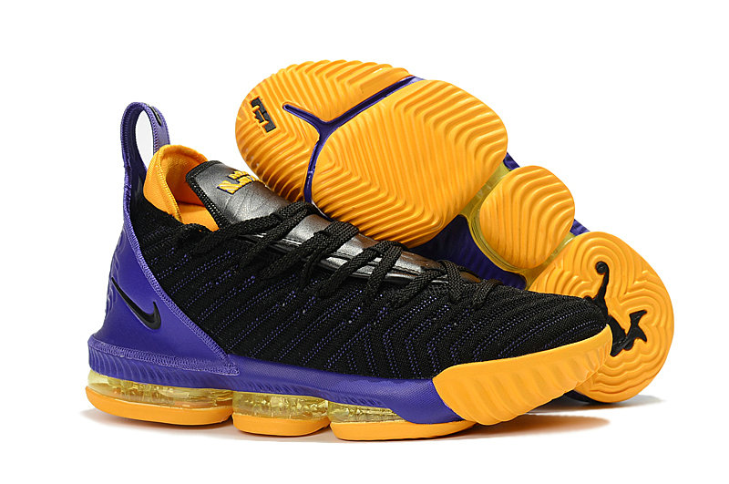 Womens Wholesale Nike Lebrons 16 Cheap Purple Black Yellow On www.wholesaleoffwhite.com