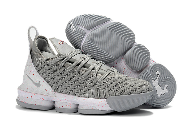 Womens Wholesale Nike Lebrons 16 Cheap Silver Grey White On  www.wholesaleoffwhite.com 7a14eb27bc