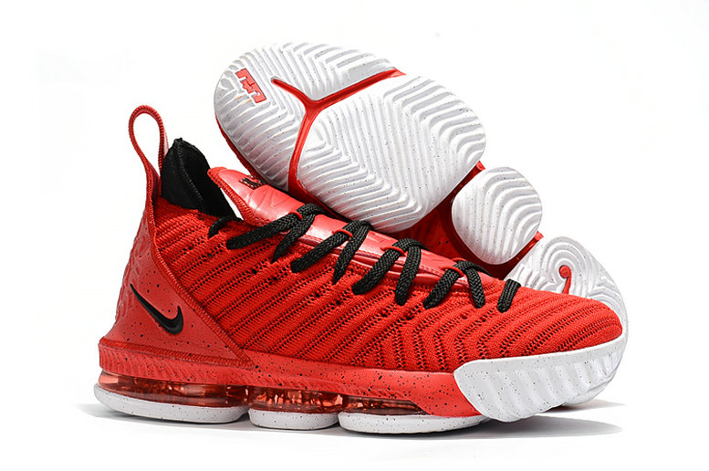 Womens Wholesale Nike Lebrons 16 Cheap University Red Black White On www.wholesaleoffwhite.com