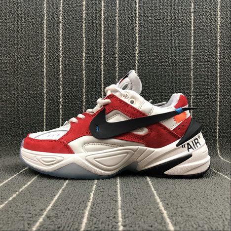 Womens Wholesale Nike M2K Tekno x Off White AO3108-800 Phantome Oli Grey Matte Silver Fantome Griys Petrole On www.wholesaleoffwhite.com