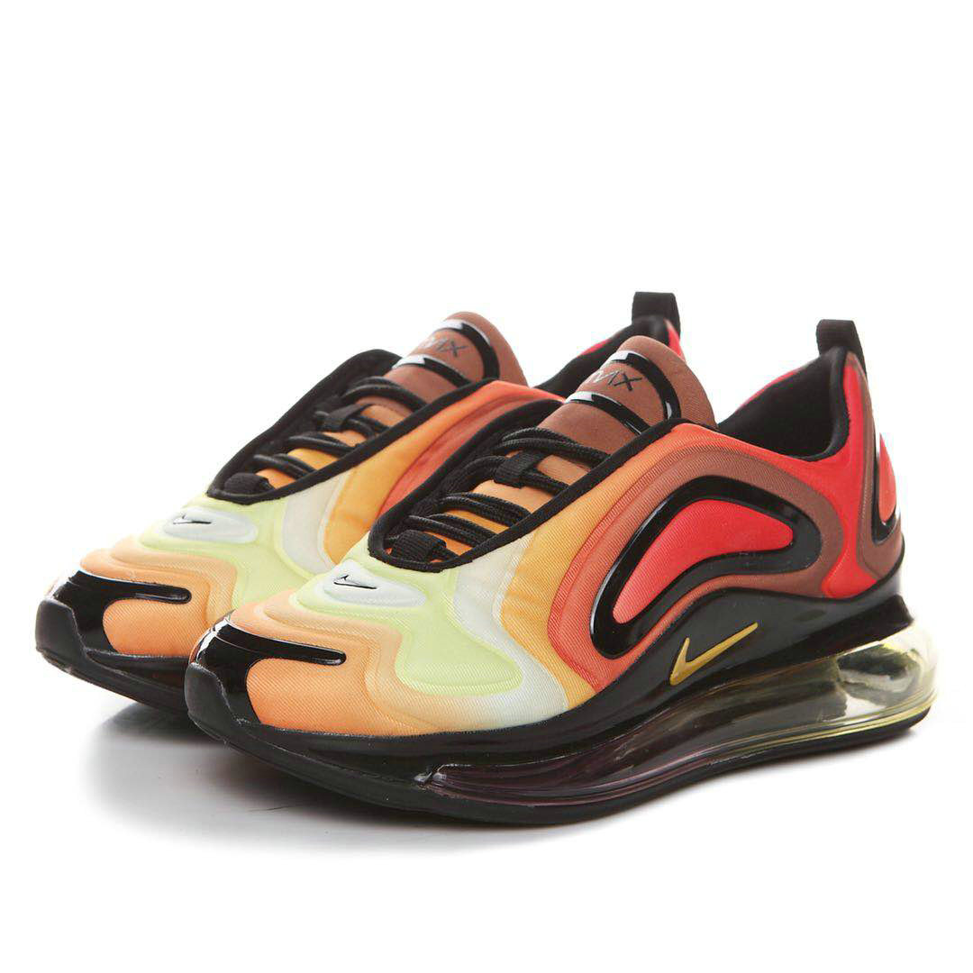 Wholesale Womens Nikes Air Max 720 Team Orange Black-University Gold AO2924-800-www.wholesaleflyknit.com