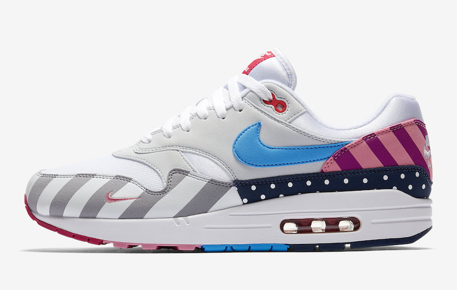 Womens Parra x Nike Air Max 1 White-Pure Platinum AT3057-100 - www.wholesaleflyknit.com