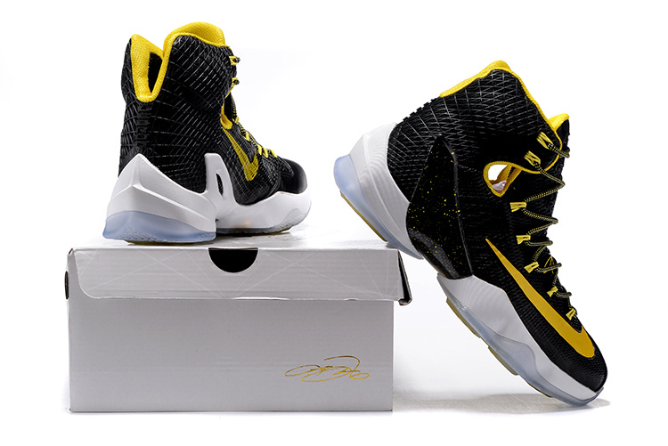 5d6c32de525f Wholesale Cheap 2016 Nike LeBron 13 Elite Black Yellow-White Basketball  Shoes - www.