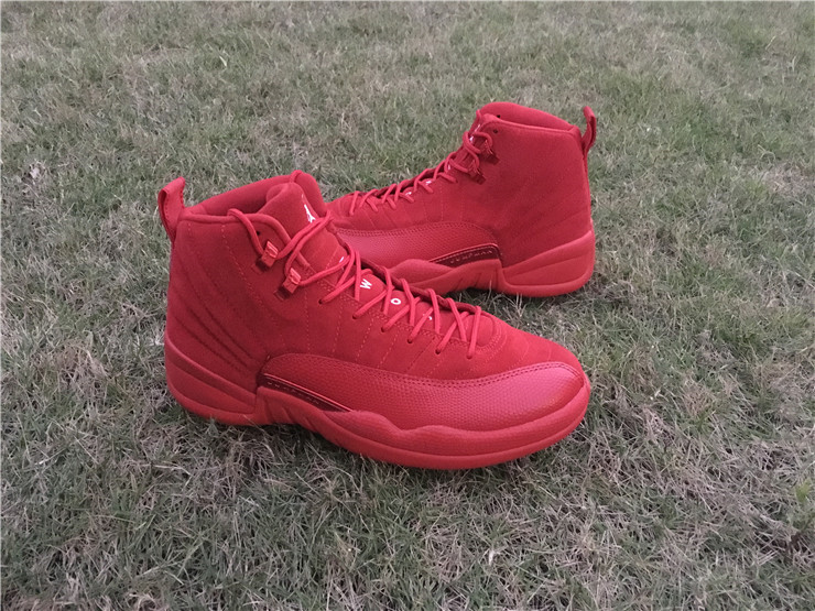 13c0bd8292a Wholesale Cheap 2017 Air Jordan 12 Premium Red Suede Christmas Red For Sale  - www.