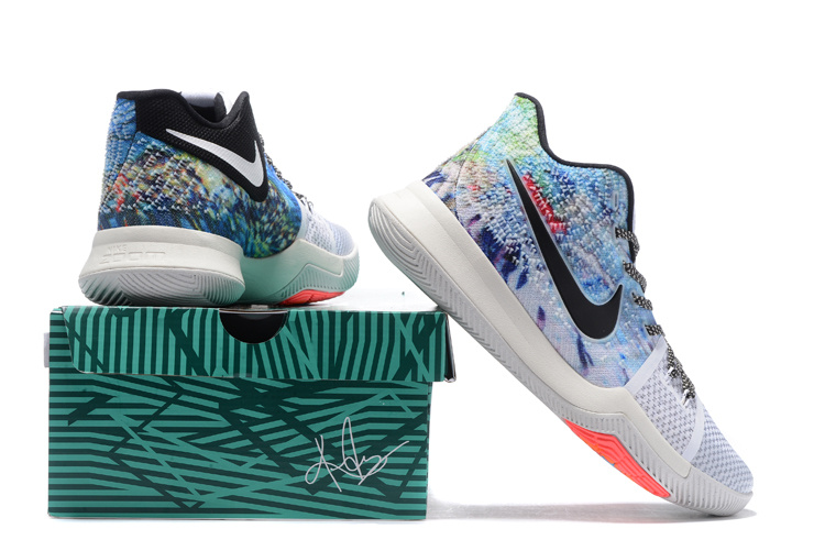 1395f5f2f99 ... Wholesale Cheap 2017 Nike Kyrie 3 Effect Multi-Color White-Black For  Sale ...