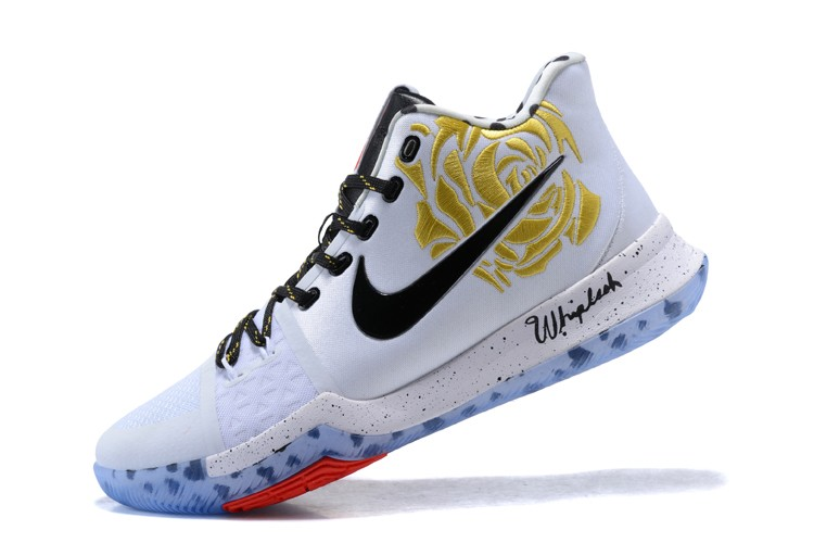 Wholesale Cheap 2017 Sneaker Room x Nike Kyrie 3 Mom White Gold Rose For Sale - www.wholesaleflyknit.com