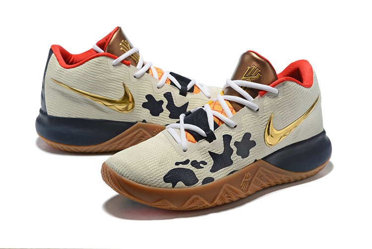 ef0ef106d631 ... 2018 Cheapest Wholesale Nike Kyrie Irving Flytrap Gold Cream Red Navy  Blue - www.wholesaleflyknit ...