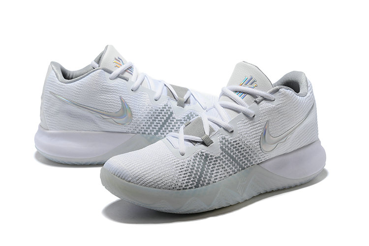 8394b14e5542 ... 2018 Cheapest Wholesale Nike Kyrie Irving Flytrap White Grey Silver -  www.wholesaleflyknit.com ...
