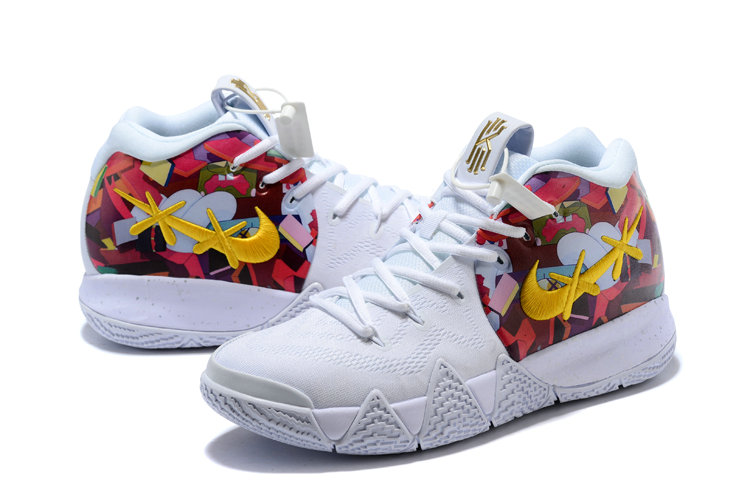 wholesale dealer eb466 73f70 2018 Nike Kyrie Shoes x Cheap Nike Kyrie 4 White Gold ...