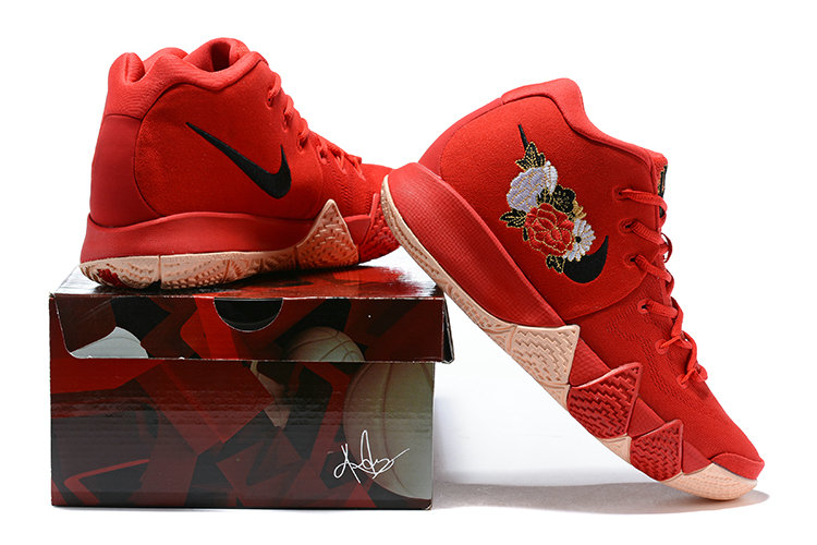 dfa62b17a1ee ... 2018 Nike Kyrie Shoes x Cheap Womens Kyrie 4 CNY University Red  Black-Team Red