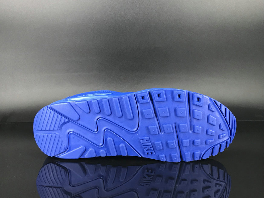 2018 Nike Air Max 90 Hyperfuse SneakerBoot Blue Cheapest