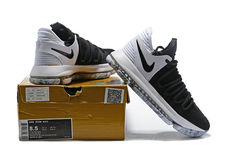 a6e5dd35af4f 2018 Nike Kevin Durant x Cheap Nike KD 10 Black And White Colorways - www.