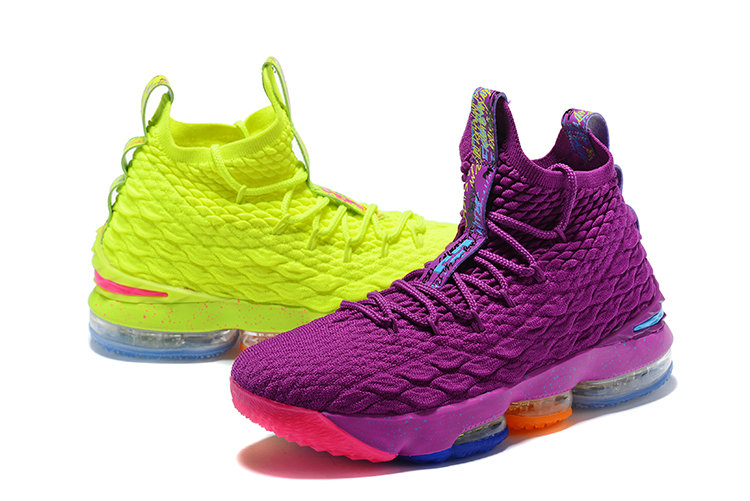 premium selection 849c6 cacd4 2018 Nike Lebron 15 Green Purple Pink Blue Cheapest ...