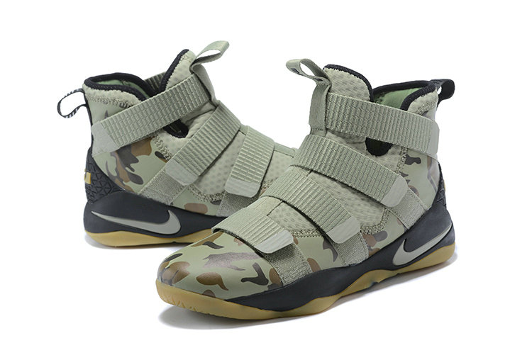 4134fc598de ... 2018 Nike Lebron Soldier 11 XI Gold Army Green Cheapest Wholesale Sale  - www.wholesaleflyknit ...