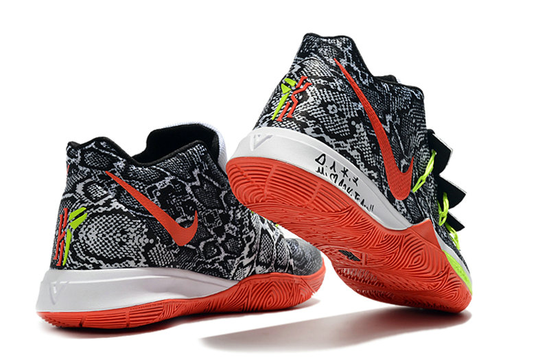 2019 Wholesale Cheap Nike Kyrie Irving 5 V Playoff Grey China Red Black White - www.wholesaleflyknit.com
