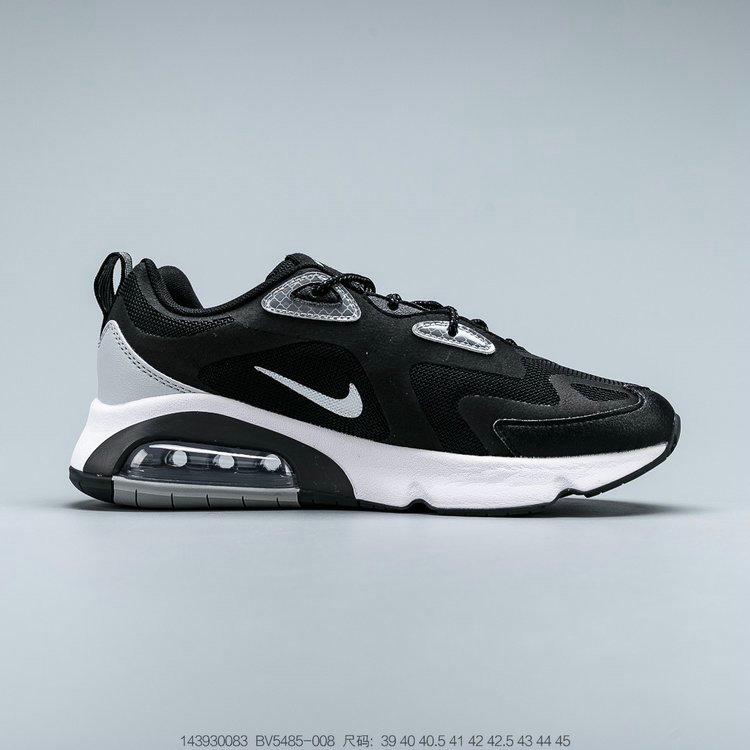 2019 Where To Buy Cheap Wholesale Nike Air Max 200 Black White Grey Noir Blanc Gris BV5485-008 - www.wholesaleflyknit.com