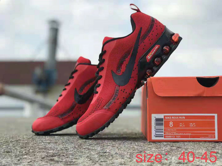 2019 Where To Buy Cheap Wholesale Nike Shox Reax Run Universite Red Black - www.wholesaleflyknit.com