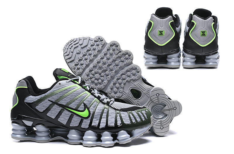 2019 Where To Buy Cheap Wholesale Nike Shox TL Grey Green Black - www.wholesaleflyknit.com