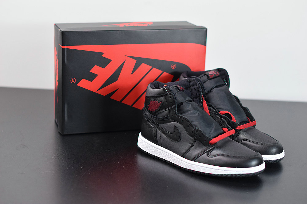 2020 Cheap Wholesale Nike Air Jordan 1 Retro High OG Black Satin Black Gym Red Black White Noir Blanc Rouge Gym555088-060 - www.wholesaleflyknit.com