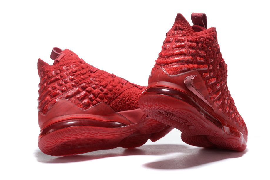 2020 Cheap Wholesale Nike LeBron 17 University Red - www.wholesaleflyknit.com