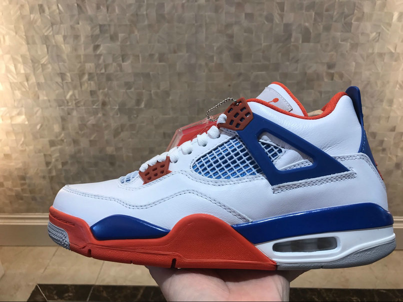 brand new dad5c e802e ... switzerland air jordan 4 retro white game royal orange blanc noir  orange on wholesaleoffwhite. 2512a