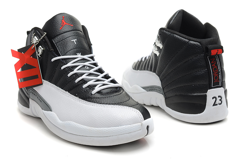 dd4d273a236 ... Wholesale Cheap Air Jordans 12 Retro Playoffs Black White -Varsity Red  For Sale - www