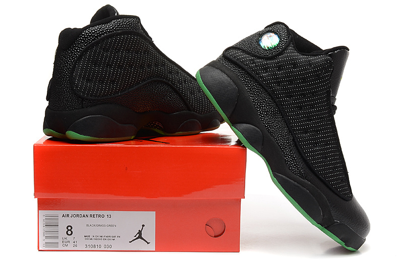 53e6595d859c03 ... Wholesale Cheap Air Jordans 13 Altitude Black Altitude Green Shoes For  Sale - www.wholesaleflyknit