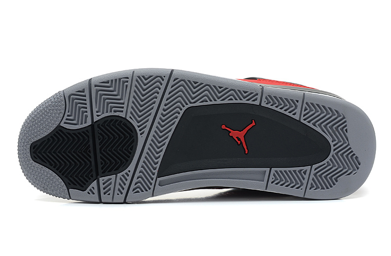 Wholesale Cheap Air Jordans 4 Retro Toro Bravo Fire Red White-Black-Cement Grey For Sale - www.wholesaleflyknit.com