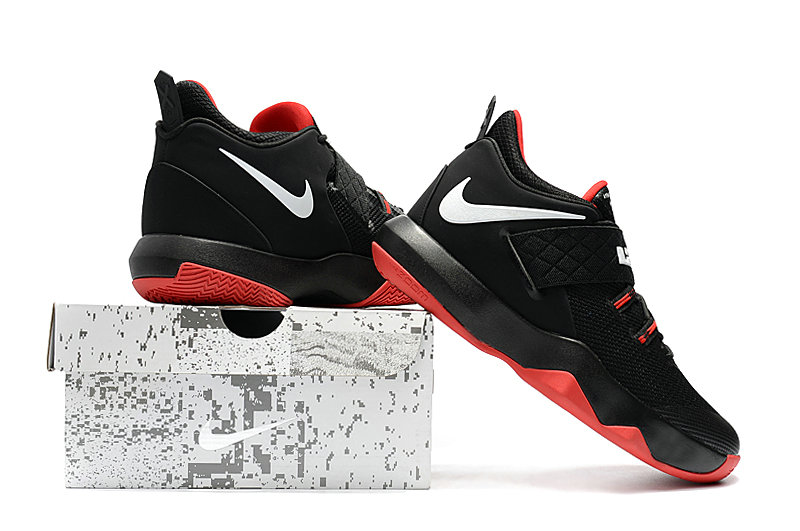 New 2018 Nike Lebron Cheap Wholesale x Nike LeBron Ambassador 10 Red Black White - www.wholesaleflyknit.com