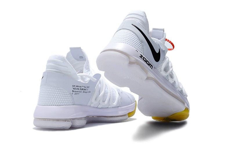 Wholesale Cheap NIKE OFF-White x Nike KD 10 White For Sale - www.wholesaleflyknit.com