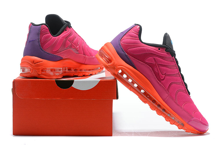Wholesale Cheap Nike Air Max 97 Plus TN Womens Pink Orange Black Purple-www.wholesaleflyknit.com