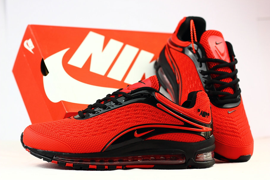 sports shoes f90d0 e9d22 ... Cheap Wholesale Nike Air Max Deluxe 2019 University Red Black Running  Shoes- www.wholesaleflyknit ...