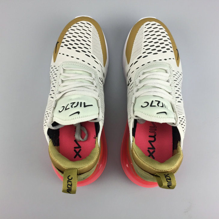 93e563bf0a ... Cheap Wholesale Nike Air Maxs 270 Womens FLT Gold Black-Light Bone Or  Mat OS