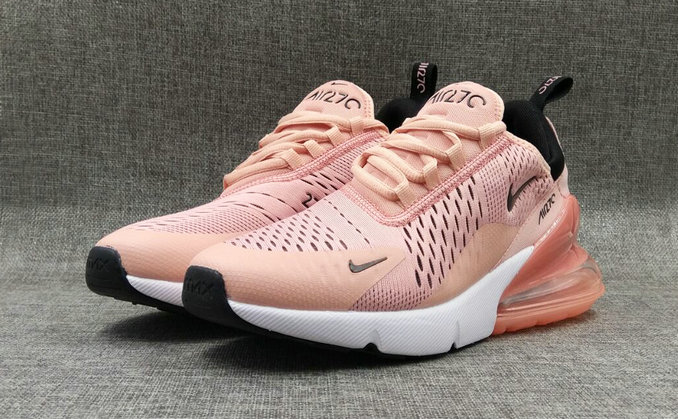 1e76d4fbbc ... Cheap Wholesale Nike Air Maxs 270 Womens Rose Gold Black On  www.wholesaleoffwhite.com ...