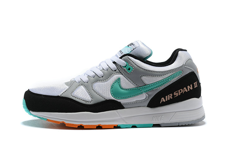 Cheapest Wholesale Nike Air Span II Apple Green Grey Black White - www.wholesaleflyknit.com